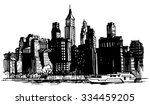 hand drawn city | Shutterstock .eps vector #334459205