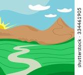 Vector Landscape Illustration...