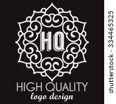 simple and graceful monogram... | Shutterstock .eps vector #334465325