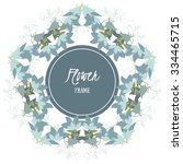 vector background with flowers... | Shutterstock .eps vector #334465715