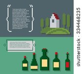wine growing production and... | Shutterstock .eps vector #334468235