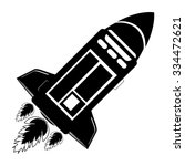 rocket  the shuttle flies.... | Shutterstock .eps vector #334472621