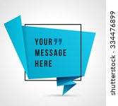 quote vector abstract geometric ... | Shutterstock .eps vector #334476899