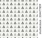 Geometric line monochrome abstract hipster seamless pattern with triangle. Wrapping paper. Scrapbook paper. Tiling. Vector illustration. Background. Graphic texture for design, wallpaper.  | Shutterstock vector #334477859