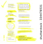 yellow marker text selection... | Shutterstock .eps vector #334478531
