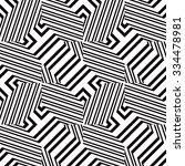 black and white geometric... | Shutterstock .eps vector #334478981