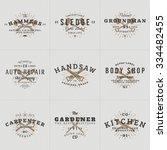 set of hipster vintage labels ... | Shutterstock .eps vector #334482455