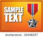military medal on orange... | Shutterstock .eps vector #33448297