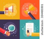 set of flat vector business... | Shutterstock .eps vector #334483301