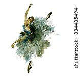 watercolor ballerina | Shutterstock . vector #334485494