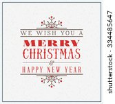 merry christmas greeting card.... | Shutterstock .eps vector #334485647