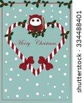 cute christmas card | Shutterstock .eps vector #334488401