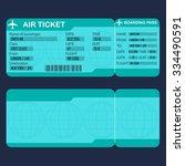 airplane ticket. detailed blank ... | Shutterstock .eps vector #334490591