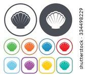 shell icon.    Shutterstock .eps vector #334498229