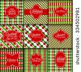 christmas patterns merry... | Shutterstock .eps vector #334502981