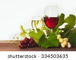 Red And White Wine In Glass...