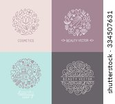 vector set of emblems  badges... | Shutterstock .eps vector #334507631