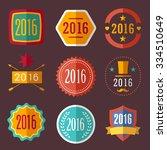 2016 typographic set vintage... | Shutterstock . vector #334510649