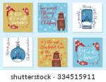 collection of 6 creative... | Shutterstock .eps vector #334515911