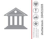 building with columns symbol... | Shutterstock .eps vector #334521035
