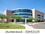 office building with glass...   Shutterstock . vector #33452125
