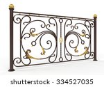 Forged Fence On White...