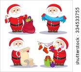 santa claus set   Shutterstock .eps vector #334533755