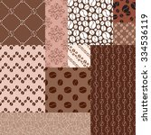 coffee pattern collection. set...   Shutterstock .eps vector #334536119