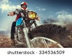 biker seat on the motorcycle... | Shutterstock . vector #334536509