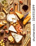 different kinds of cheeses ... | Shutterstock . vector #334551899