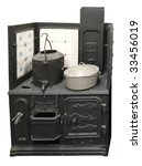 Antique Coal Cooker Isolated...