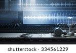 sound studio and audio tracks | Shutterstock . vector #334561229