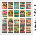 collection of retro vintage... | Shutterstock .eps vector #334566191