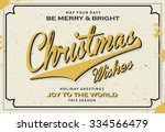 retro vintage merry christmas... | Shutterstock .eps vector #334566479