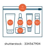liquids in carry on baggage.... | Shutterstock .eps vector #334567904