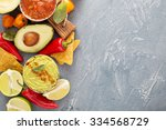 mexican cuisine ingredients and ...   Shutterstock . vector #334568729