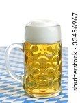 close up of bavarian beer in... | Shutterstock . vector #33456967