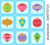 seamless vector pattern with... | Shutterstock .eps vector #334570715