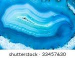 Blue Agate Close Up Evoking...