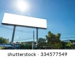 large blank billboard ready for ... | Shutterstock . vector #334577549