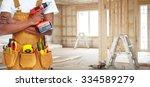 builder handyman with...   Shutterstock . vector #334589279