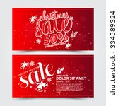 christmas sale design template   Shutterstock .eps vector #334589324