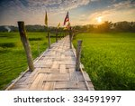 Rural Green Rice Fields And...