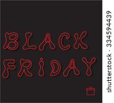 black friday sale. vector... | Shutterstock .eps vector #334594439