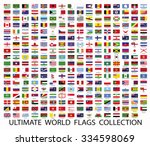 flags the world vector | Shutterstock .eps vector #334598069