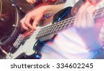 aggressive play guitar on stage | Shutterstock . vector #334602245