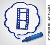 doodle film   Shutterstock .eps vector #334606385