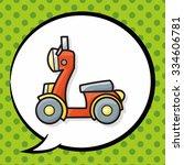 motorcycle doodle  speech bubble   Shutterstock .eps vector #334606781