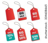 price tags set on white... | Shutterstock .eps vector #334608665