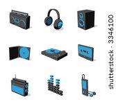blue 3d icon set 07 | Shutterstock .eps vector #3346100